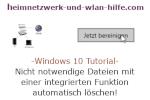 Windows 10 Tutorial - Nicht notwendige Dateien mit einer integrierten Funktion automatisch löschen!