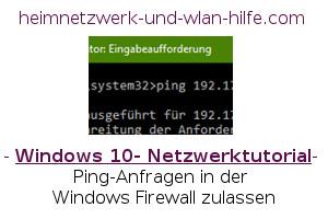 Ping-Anfragen in der Windows Firewall zulassen