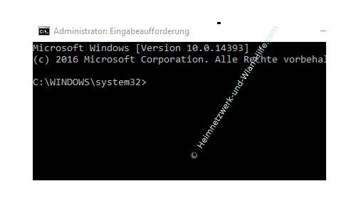Ping-Anfragen in der Windows Firewall zulassen – Das Startfenster der Eingabeaufforderung - Kommandozeile