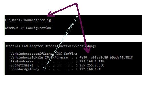 Mit Ping und Ipconfig Ursachen für Probleme im Netzwerk finden – Die IP-Konfiguration mit ipconfig anzeigen