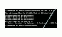 Problem im Netzwerk: Keine Netzwerkverbindung - Netzwerkverbindung mit Ping testen  -  Cmd Befehl Ping - Antwort nicht erfolgreich - Zeitüberschreitung