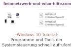 Windows 10 Tutorial - Programme und Tools der Systemsteuerung schnell über cpl-Dateien aufrufen!