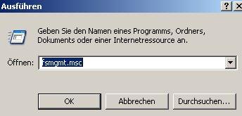 Heimnetzwerk-Anleitung: Auf Netzwerkfreigabe und Windows zugreifen - Start Ausführen fsmgmt.msc