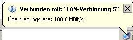 Netzwerk-Tutorial: Netzwerksymbol in der Taskleiste anzeigen - Anzeige der Meldung Netzwerkverbindung erfolgreich verbunden