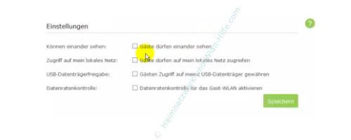 TP-Link Archer VR900v: Ein Wlan-Gastnetzwerk konfigurieren – Option, Gäste dürfen auf das lokale Netzwerk zugreifen