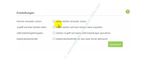 TP-Link Archer VR900v: Ein Wlan-Gastnetzwerk konfigurieren – Option, Gäste dürfen einander sehen
