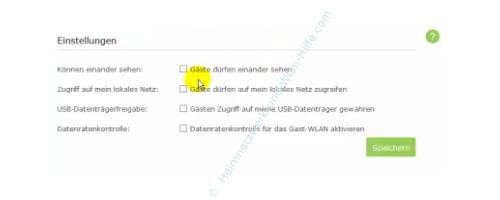 TP-Link Archer VR900v: Ein Wlan-Gastnetzwerk konfigurieren – Option, Gästen Zugriff auf meine USB-Datenträger gewähren