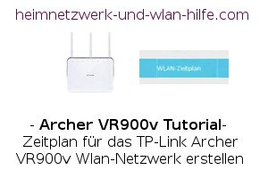 TP-Link Archer VR900v: Wlan-Zeitplan festlegen