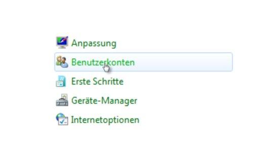 Tutorial Windows 7 Kennwort ändern Menüpunkt Benutzerkonten