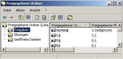 Heimnetzwerk-Anleitung: Auf Netzwerkfreigabe und Windows zugreifen - Verwaltungskonsole freigegebene Ordner