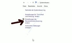 Warnmeldungen der Benutzerkontensteuerung anpassen - Link Benutzerkontensteuerung ändern