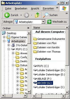 Computer Tutorial: Welches Dateisystem ist auf dem Laufwerk, der Festplatte installiert? Laufwerk im Arbeitsplatz auswählen