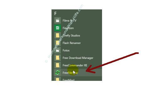 Windows 10 - Eigene Programme im Startmenü einbinden – Eine Programmverknüpfung in der Liste Alle Apps