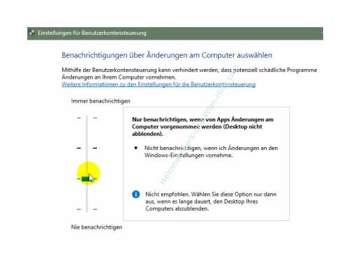 Die neue Benutzerverwaltung – Die Benutzerkonensteuerung Stufe 2