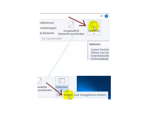 Alle Dateien im Windows Explorer anzeigen lassen – Explorer, Menü Ansicht, Optionen, Ordner- und Suchoptionen ändern