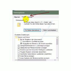 Alle Dateien im Windows Explorer anzeigen lassen – Explorer, Ordneroptionen, Register Ansicht