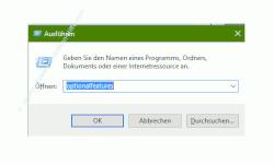 Weitere Features und Funktionen von Windows 10 freischalten – Den Befehl optionsfeatures im Ausführen-Dialog eingeben