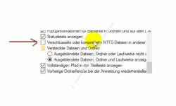 Alle Dateien im Windows Explorer anzeigen lassen – Explorer, Ordneroptionen, Verschlüsselte oder komprimierte Dateien in anderer Farbe anzeigen