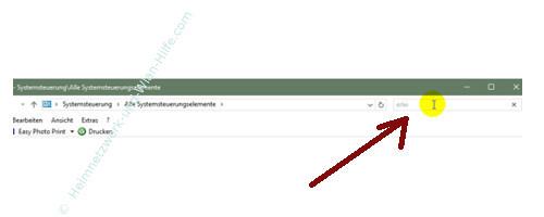 Windows 10 - Die Snap-Funktion zum Andocken von Windows-Fenstern nutzen – Über das Suchfeld der Systemsteuerung nach der Funktion - Erleichterte Bedienung- suchen