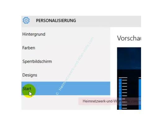 Windows 10 - Die Kachelanzahl im Startmenü von 3 auf 4 erhöhen – Menü Einstellungen, Personalisierung, Start