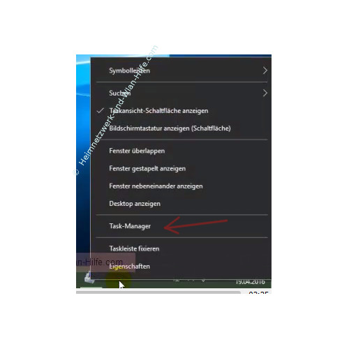 Automatisch startende Programme anzeigen lassen – Task-Manager über die Taskleiste starten