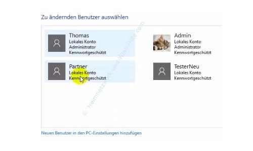Die neue Benutzerverwaltung – Übersicht aller angelegten Benutzerkonten
