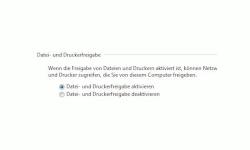 Windows Tutorials und Anleitungen: Windows 7 Berechtigungen konfigurieren - Freigabeeinstellung Option Datei- und Druckerfreigabe