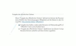 Windows Tutorials und Anleitungen: Windows 7 Berechtigungen konfigurieren - Freigabeeinstellung Option Freigabe des öffentlichen Ordners