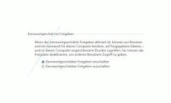 Windows Tutorials und Anleitungen: Windows 7 Berechtigungen konfigurieren - Freigabeeinstellung Option Kennwortgeschütztes Freigeben