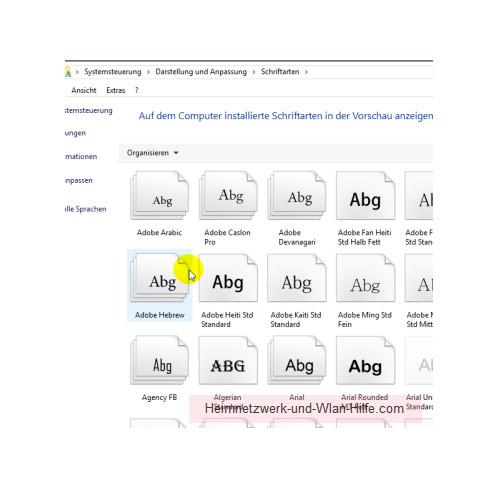 Windows 10 - Tutorial - Überflüssige Schriftarten für ein schnelleres System entfernen – Das Konfigurationsfenster Schriftarten