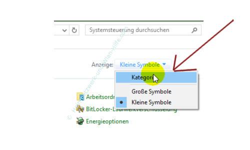 Windows 10 - Tutorial - Überflüssige Schriftarten für ein schnelleres System entfernen – Systemsteuerung, Ansicht Kategorie auswählen