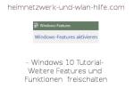 Weitere Features und Funktionen von Windows 10 freischalten