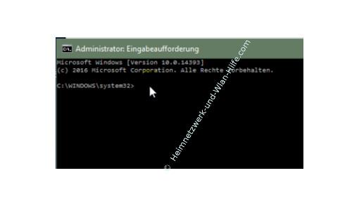 Windows 10 Tutorial - Wlan-Einstellungen und Wlan-Passwort anzeigen lassen – Das Fenster für die Administrator Eingabeaufforderung