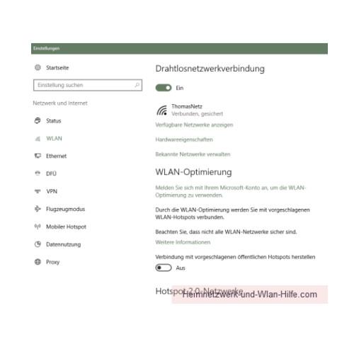 Windows 10 Tutorial - Wlan-Einstellungen und Wlan-Passwort anzeigen lassen – Das Konfigurationsfenster Drahtlosnetzwerkverbindung