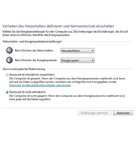 Windows Aleitungen und Tutorials: Reaktivierungskennwort des Windows 7 Ruhezustandes deaktivieren - Windows 7 Energieoptionen Einstellungen anpassen