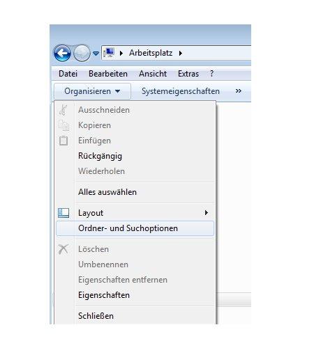 Windows Anleitungen und Tutorials: Windows 7 Ordner in einem eigenen Fenster öffnen - Windows 7 Ordner- und Suchoptionen