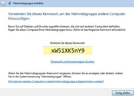 Heimnetzwerk Tutorials: Windows 7 Heimnetzwerk erstellen - Passwort für die Heimnetzgruppe