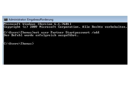 Windows Tutorials: Benutzerkonto mit Systembefehl net user anlegen - Windows 7 Kommandozeile Net User Neues Benutzerkonto erstellen