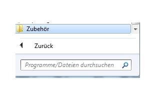Windows 7 Benutzerkonten schnell aktivieren und deaktivieren - Alle Programme - Untermenü Zubehör