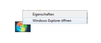 Heimnetzwerk Tutorials: Windows 7 Dateien und Drucker freigeben - Windows Explorer öffnen