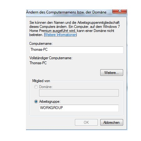 Heimnetzwerk Anleiungen: Arbeitsgruppen in Windows 7 Netzwerken - Arbeitsgruppe umbenennen