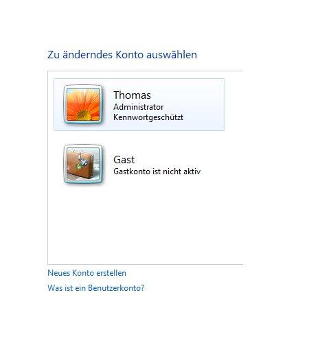 Windows Tutorials: Benutzerkonto mit Systembefehl net user anlegen - Windows 7 Systemsteuerung Auflistung aller Benutzerkonten