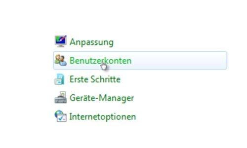 Windows Tutorials: Benutzerkonto mit Systembefehl net user anlegen - Windows 7 Systemsteuerung Menüpunkt Benutzerkonten