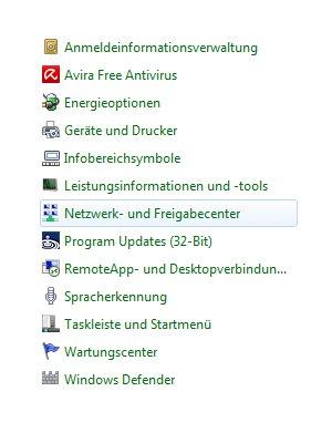 Windows 7 Heimnetzwerk Tutorial: Systemsteuerung Netzwerk- und Freigabecenter