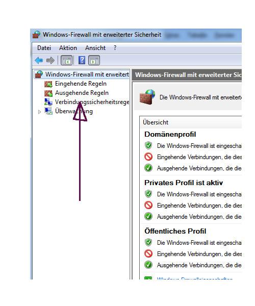 Netzwerk Tutorial: Netzwerkproblem! Es werden keine anderen Computer in der Netzwerkumgebung angezeigt! Windows Firewall - Erweiterte Einstellungen