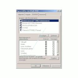 Windows Berechtigung - Zugriffsrechte auf Dateien und Ordner vergeben - Fenster Berechtigungsvergabe