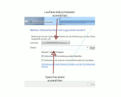 Windows Explorer - Netzlaufwerk verbinden - Laufwerkbuchstaben auswählen