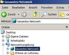 Anleitung: Ordner-Freigaben unter Windows anzeigen lassen - Netzwerkumgebung gesamtes Netzwerk