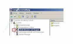 Netzwerk-Anleitung: Windows Passwort über die zentrale Gruppenverwaltung ändern! Computerverwaltung - Klick auf Pluszeichen vor Lokale Benutzer und Gruppen, um die Ebene zu öffnen