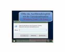Windows 10 - Mit der Aufgabenplanung Hintergrundaktivitäten aufspüren – Das Ausführen Dialogfeld aufrufen